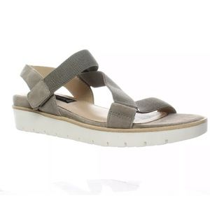 New Grey suede wedge sandals Steve Madden! 7